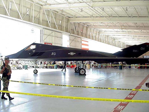 Side of F-117 Nighthawk