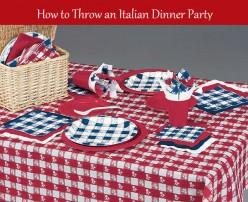 How to Throw an Italian Dinner Party