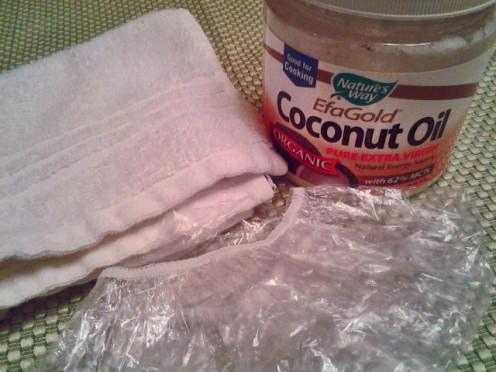 Coconut Oil with Shower Cap