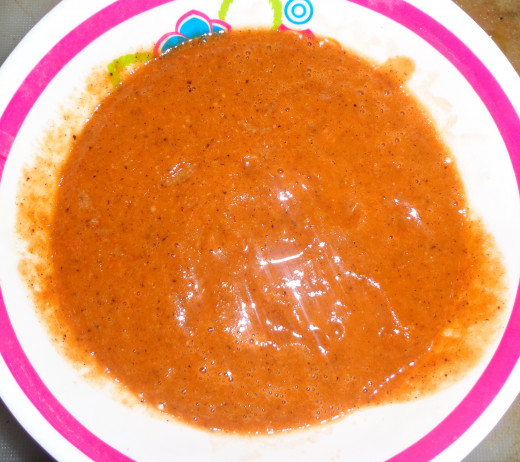 Smashed Tomato chutney