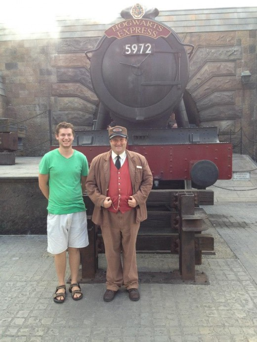 Here I am having a blast at the Magical World of Harry Potter in Orlando, FL!  (Oct. 2012)