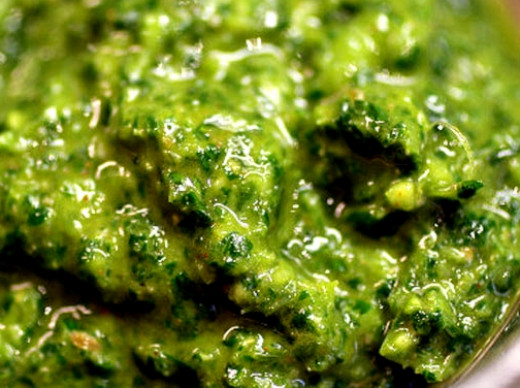 Resembles pesto, but much more spicy