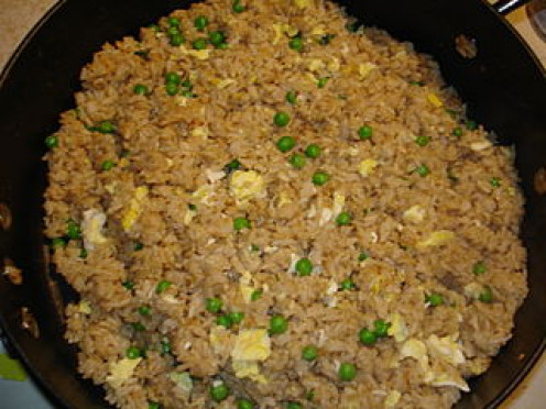 Plain fried rice is so easy! Just add whatever you want to this dish to make it a main dish.
