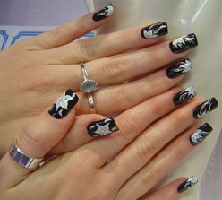 Black nails are not sexy.