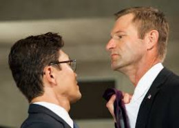 Rick Yune terrorizes the President played by Aaron Eckhart in the thriller Olympus Has Fallen
