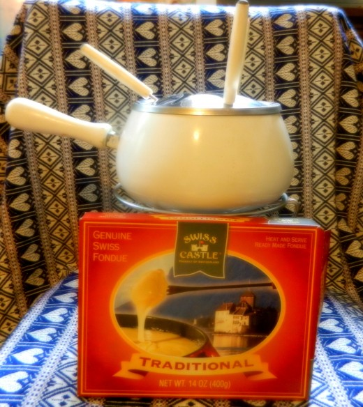 A quick and easy way to enjoy fondue on the cheap. This brand comes from World Market.