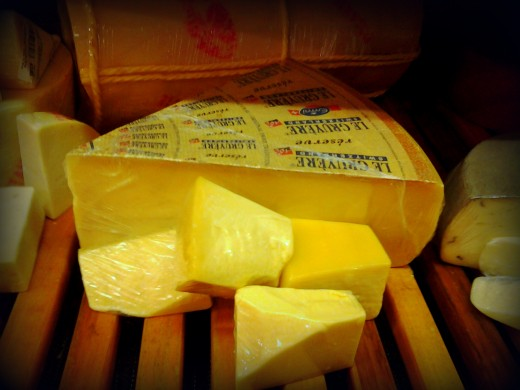 Hunks of Gruyere just waiting for the fondue pot.