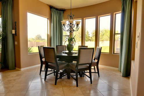 Tile or wood floors are your best bet for a desert home.