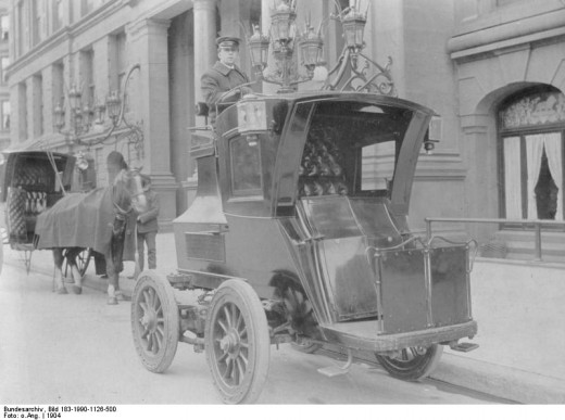 Electric Cars from the Early 20th Century (This caption reflects a possible search query and could show up in search engine image results.)