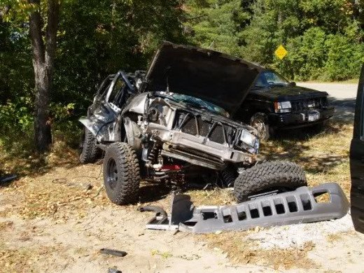 Jeep Cherokee after a collision