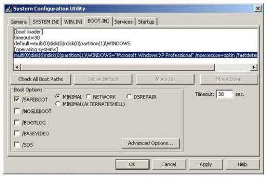 Msconfig (Boot Tab)