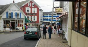 Downtown Boothbay Harbor, Maine.