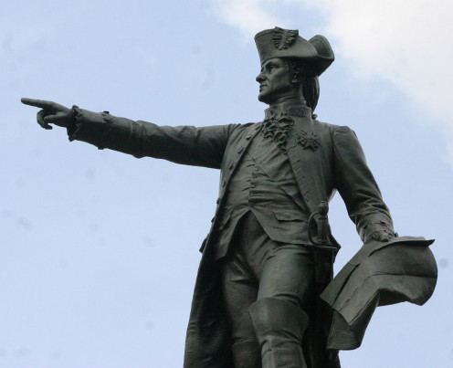 Jean-Baptiste Donatien de Vimeur, comte de Rochambeau was a noteable French military leader. In aid to Washington, Rochambeau displayed admirable spirit, placing himself entirely under Washington's command in order to beat the Brits.