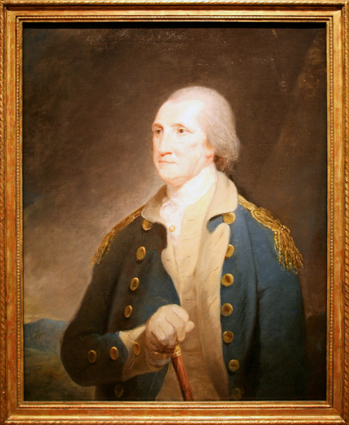 (George Washington 1785, Oil on canvas - Robert Edge Pine) Washington, appointed commander-in-chief of the Continental army, took command of a ragtag force of 17,000 men in July 1775. Leading an army for the next 8.5 years, he won Yorktown in 1781.