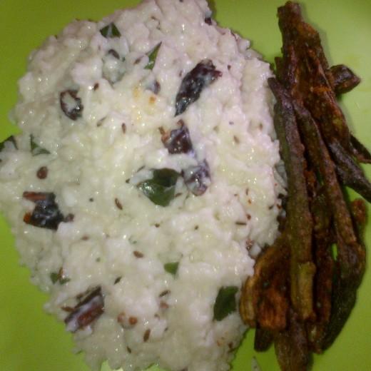 Tasty curd rice