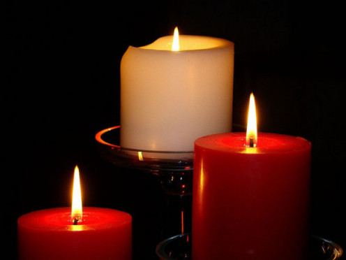 Candles Alight.  How to - Candle Magic; article accompaniment image.