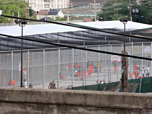 Inmates at Orleans Parish Prison in Louisiana.