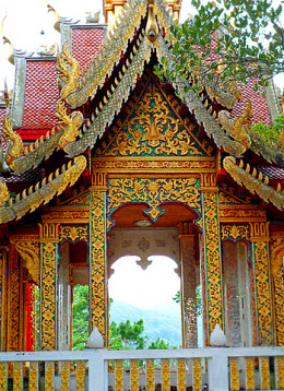 Wat Phrathat Doi Suthep Temple on the hills above Chiang Mai
