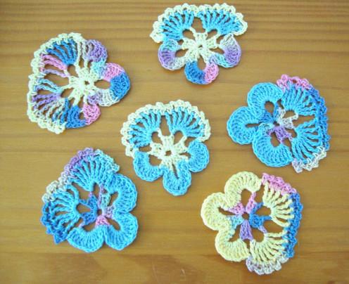 Photo: Crochet Pansies
