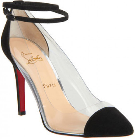 The transparent cap toe Louboutin