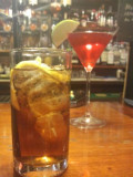 Long Island Iced Tea (and a cheeky cosmo in the background)