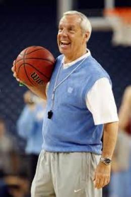 Coach Roy Williams of the North Carolina Tarheels