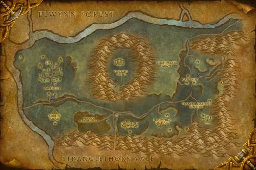 Vanilla Map of Duskwood