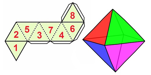 Octahedral folding pattern