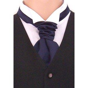 A silk wedding cravat for men is a great, formal option to replace a necktie.