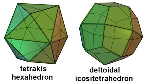 24-sided dice come in two shapes.
