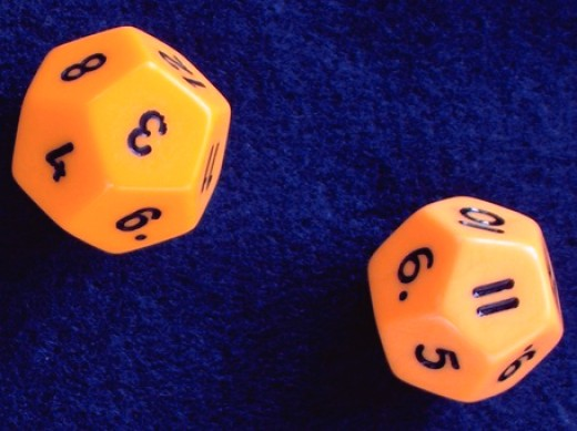 Dodecahedral dice.