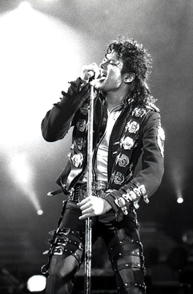 Jackson during a June 2, 1988 performance in Vienna, Austria