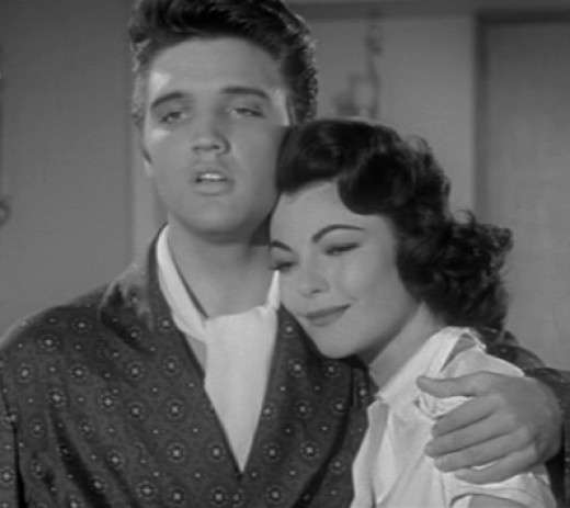 Presley and costar Judy Tyler in the trailer for Jailhouse Rock, released October 17, 1957