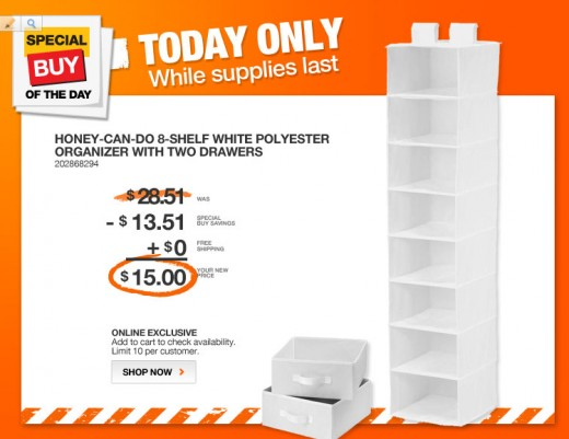 Home Depot DEAL OF THE DAY 3-28-2013