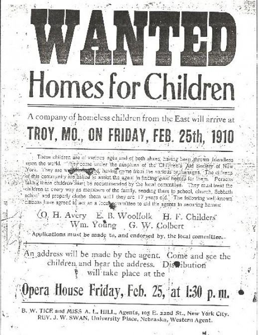 "Early American adoption processes could be as simple as showing up when an ""Orphan Train"" was going through town and merely picking a child from the bunch to bring home. No fuss, no muss!"