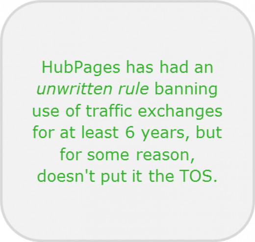 HubPages Unwritten Rule