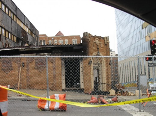 JJ's was nothing but a few standing bricks and a pile of rubble after a gas explosion that killed one and injured several others.