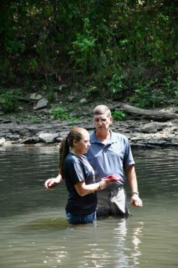 The day I baptized my daughter in the Little Miami River in Beavercreek, Ohio
