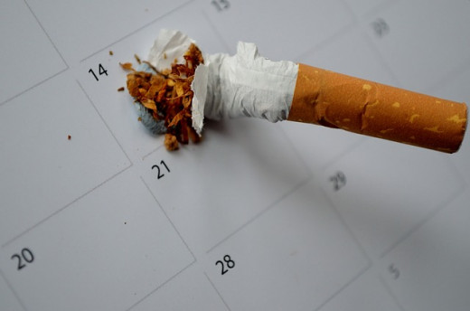 Smoking can cause a sore throat. Quit smoking now!