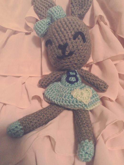 Amigurumi crochet bunny rabbit doll