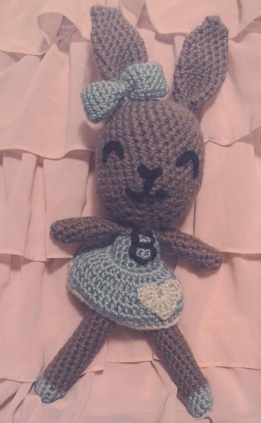 Crochet amigurumi bunny rabbit doll