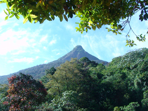 View back to the peak from the lower slopes of the climb