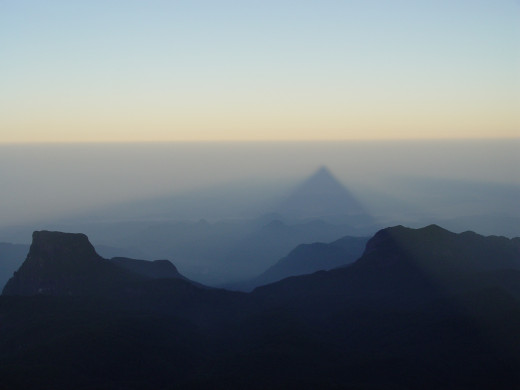 """""""Shadow of the Peak"""" - view from the top of Adam's Peak at dawn"""