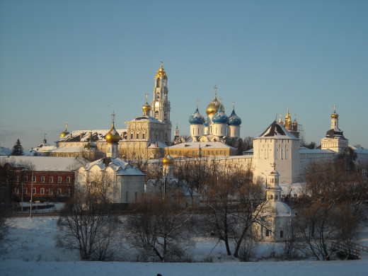 Zagrosk monastry and church near Moscow
