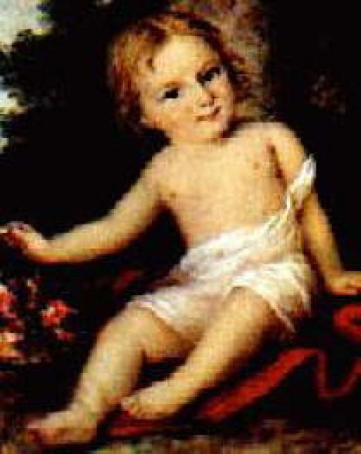 Portrait of Allegra Byron