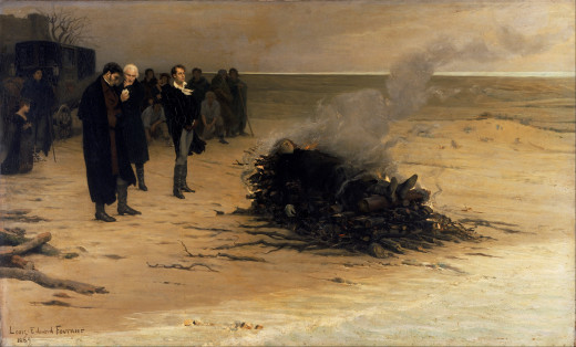 The Funeral of Shelley by Louis Edouard Fournier. 1889