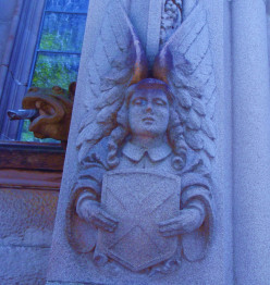 A stone angel.
