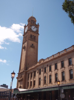 The clock tower at Central Station.