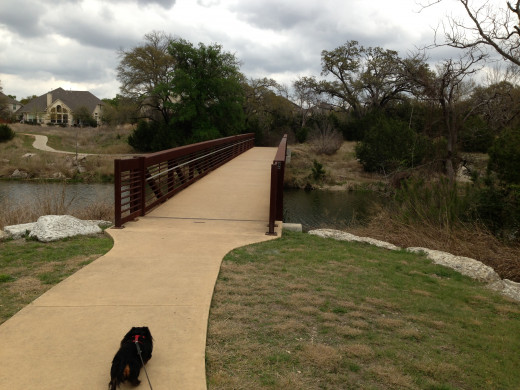 Bridge from Avery Ranch - Champion Park - Cedar Park TX