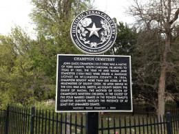 Historical Marker - Champion Park - Cedar Park TX